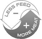 Less feed, More meat